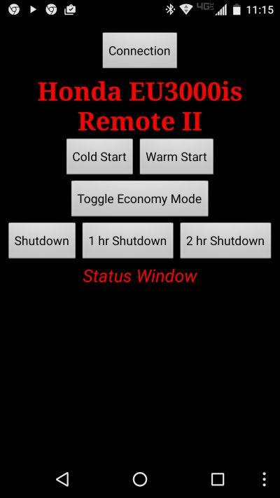 Honda EU3000is Remote Kit \u2013 Control House