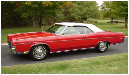 1969-72 Mercury Monterey  Marquis Convertible Tops and Convertible