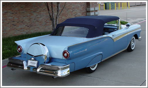 1957-58 Ford Fairlane  Sunliner Convertible Tops and Convertible