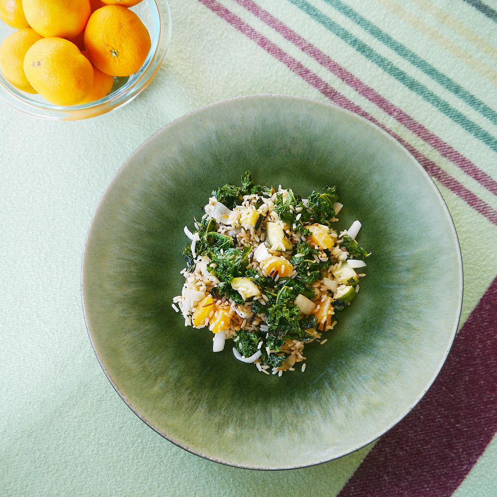 Wild Rice with Mandarin Oranges & Grilled Vegetables