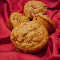 Ginger Whole Wheat Strawberry Banana Muffins