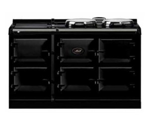 Aga Dual Control 5 oven Gas Cooker In Black