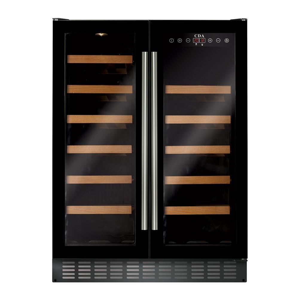 Buy the CDA Freestanding 600mm Double Door Black Wine Cooler