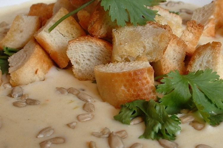 Cauliflower and horseradish soup