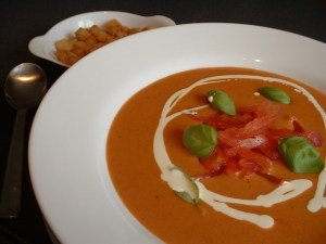 Tomato and Port soup