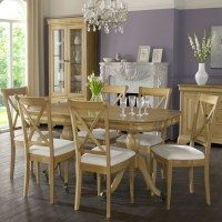 Cookes Collection Chateau Oak Dining Table And 6 X Back ...