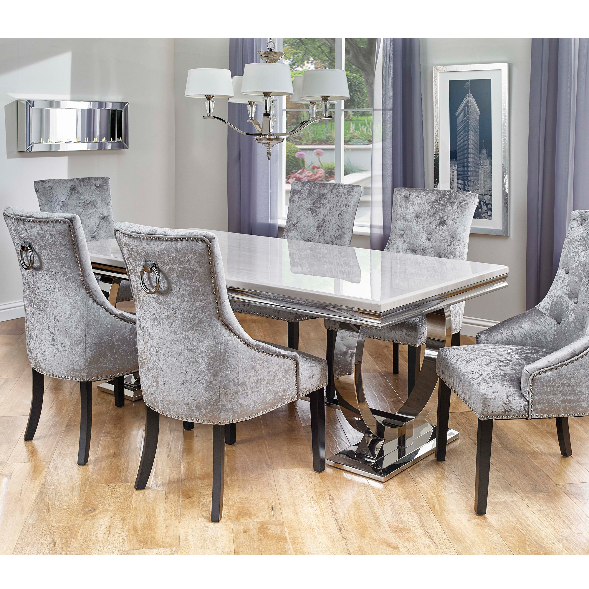 Cookes Collection Valentina Dining Table And 6 Chairs