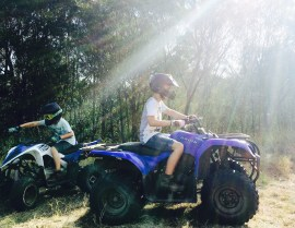 Quad biking fun for the boys at our friends farm.