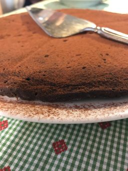 Torta Chocolate prepared by our Italian hosts