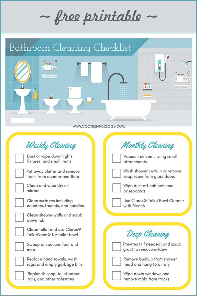 Getting Teens to Clean + Printable Bathroom Cleaning Checklist