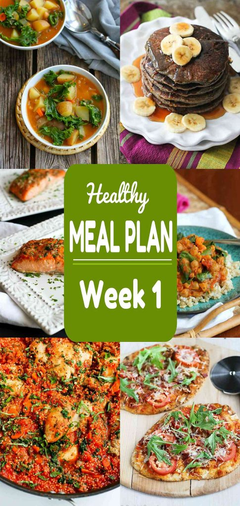Healthy Meal Plan {Week 1} - Meat and Meatless Recipes