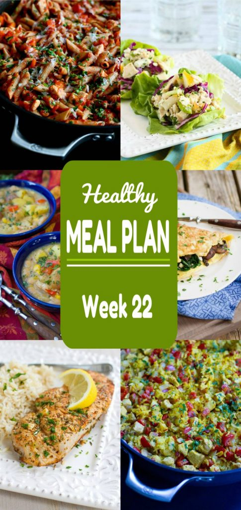 Healthy Meal Plan Week 22 - Meat and Meatless Recipes