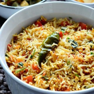 Tomato Rice Recipe, South Indian Tomato Rice, Step by Step