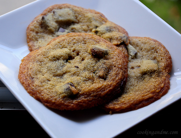 Eggless Chocolate Chunk Cookies Recipe