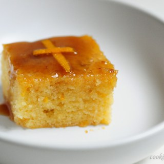 Orange Cake Recipe with Toffee Sauce, Easy Christmas Cakes