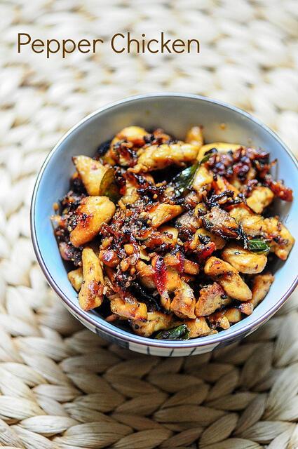 Dry Indian Pepper Chicken-Pepper Chicken Masala Recipe