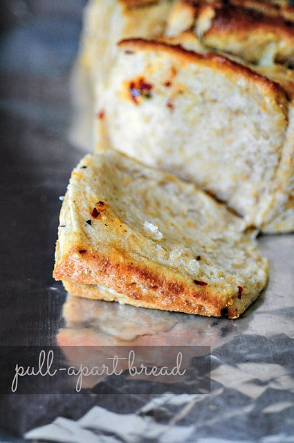 Eggless Herb & Cheese Pull-Apart Bread