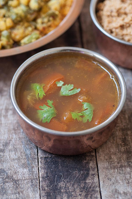 easy instant south indian tomato rasam recipe