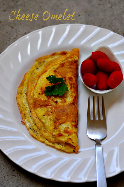 cheese omelet-how to make cheese omelet recipe