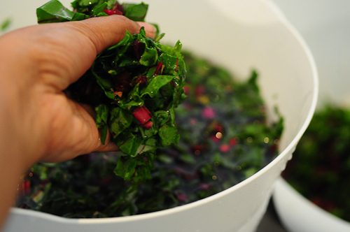 beetroot leaves dal-masoor dal recipe with beet leaves-5