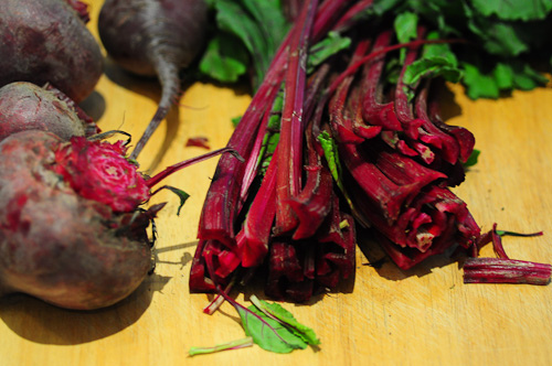 beetroot leaves dal-masoor dal recipe with beet leaves-2