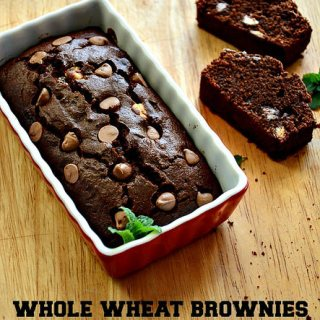 Whole Wheat Brownie Recipe, Atta & Jaggery Brownies, Step by Step
