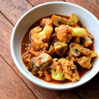 Easy Gobi Mushroom Masala Recipe, Step by Step