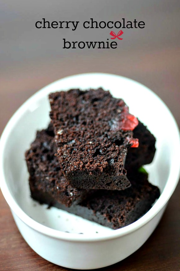 Cherry Chocolate Brownie Recipe, How to make Chocolate ...