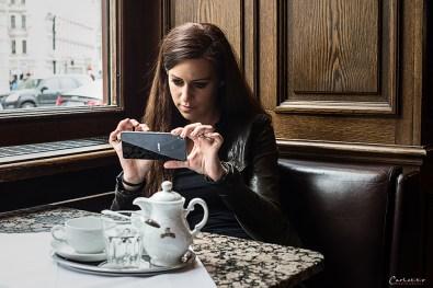 Und... klick... mit dem Smartphone schöne Momente festhalten