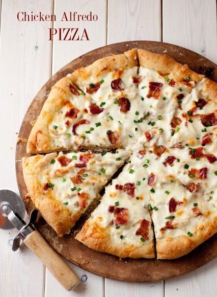 Paleo Deep Dish Alfredo Pizza