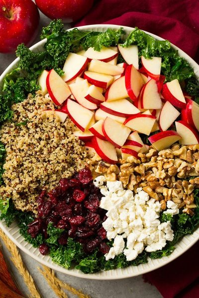 Kale Salad (with Apples and Quinoa) - Cooking Classy