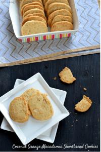 Coconut Orange Macadamia Shortbread Cookies