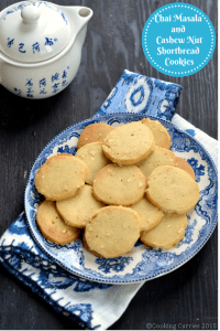 Chai Masala Spice and Cashew Nut Shortbread Cookies