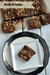 3 Ingredients Nutella Brownie