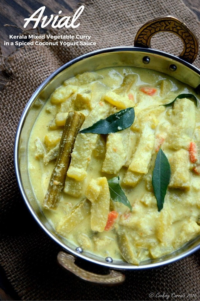 Avial - Kerala Mixed Vegetable Curry with Coconut and Yogurt Sauce - A ...