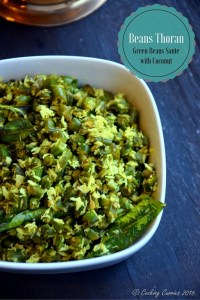 Beans Thoran ~ Green Beans sauté with Coconut