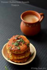 Paneer Tikkis with Butternut Squash