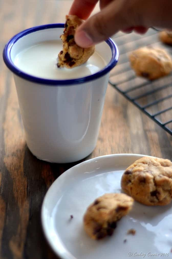 Eggless Chocolate Chip Cookies with Condensed Milk (6)