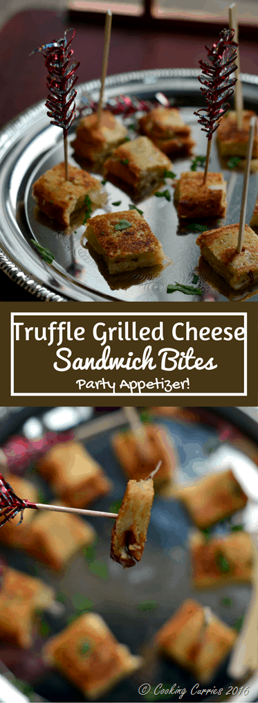 Truffle Grilled Cheese Sandwich Bites - Party Appetizer