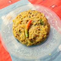 Bengali Veg. Ash Gourd Curry/Chal Kumro With Mung Dal.