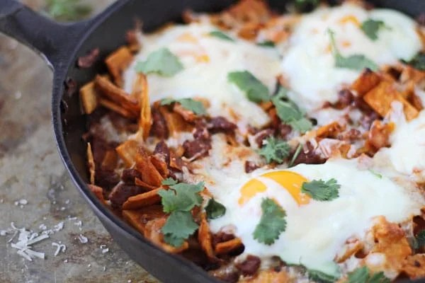 Baked Chilaquiles with Chorizo and Eggs-Lightened Up - Cooking for - prep cook