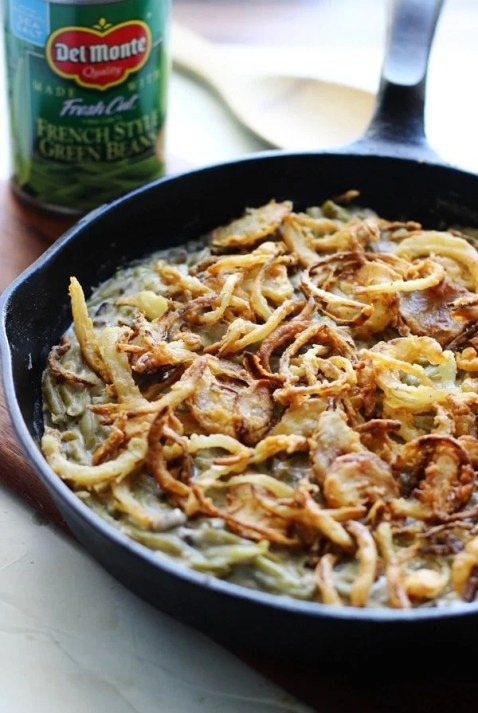 The BEST Green Bean Casserole - No processed cream of whatever, just real ingredients that result in the creamiest, most delicious side of Thanksgiving!