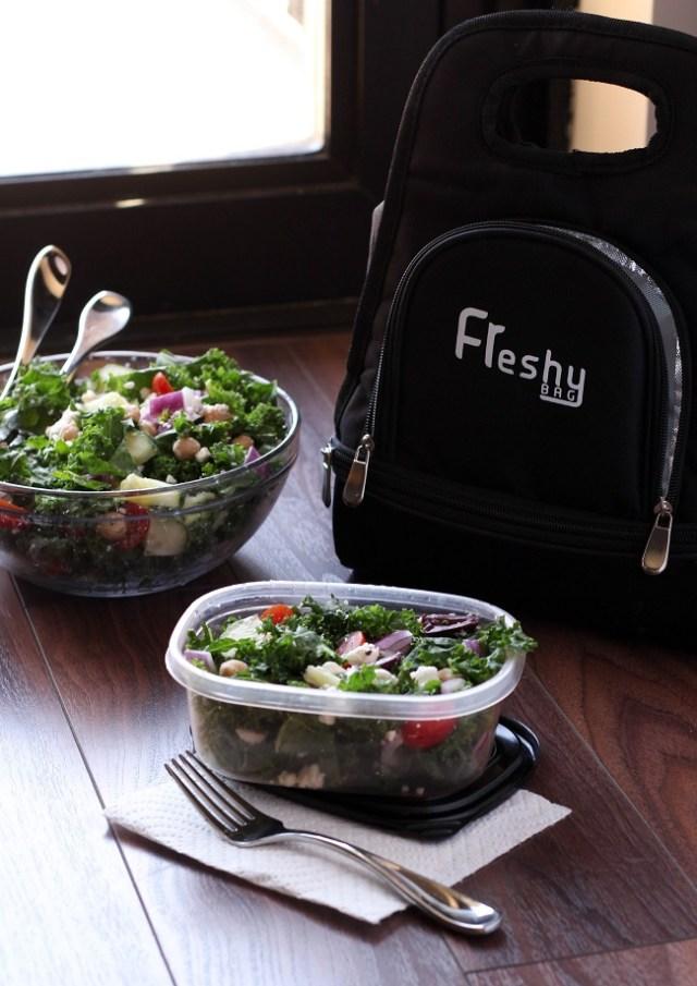 Kale Greek Salad and Freshy Bag