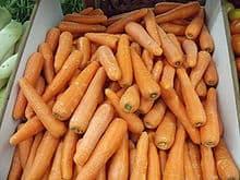 carrots at a market