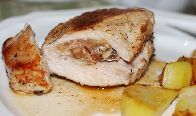 Отбивные из свинины с начинками рецепт