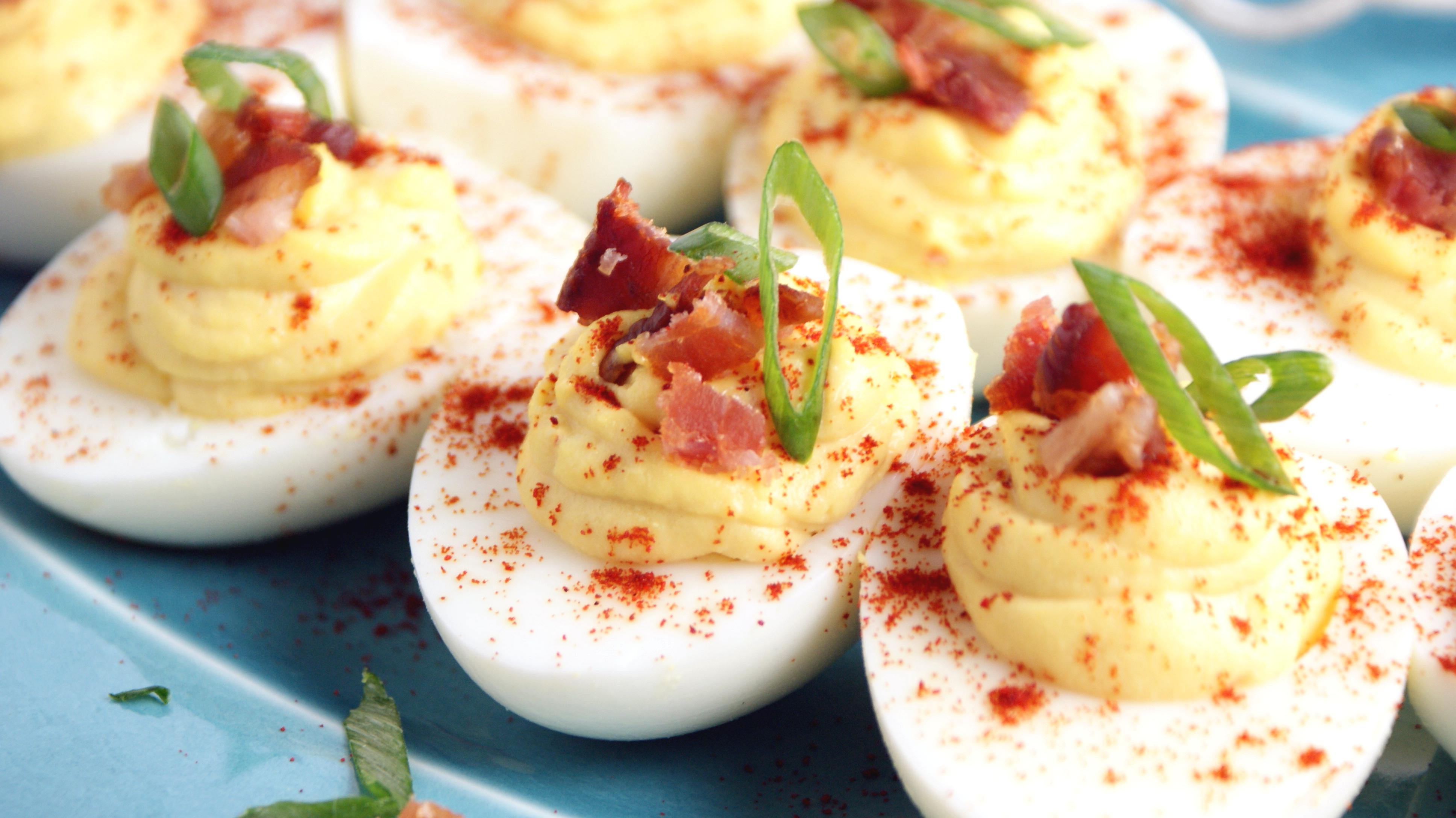 Bacon Deviled Eggs - Cooking Up Clean