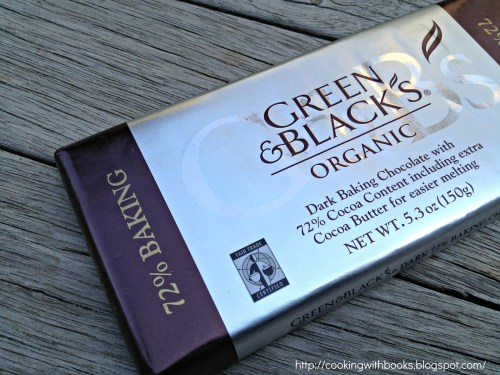 Green & Black's 72% cocoa content chocolate bar