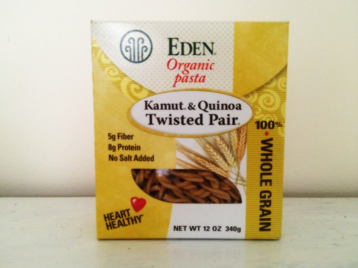 Kamut and Quinoa Pasta by Eden Foods