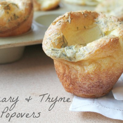 Rosemary Thyme Herb Popovers