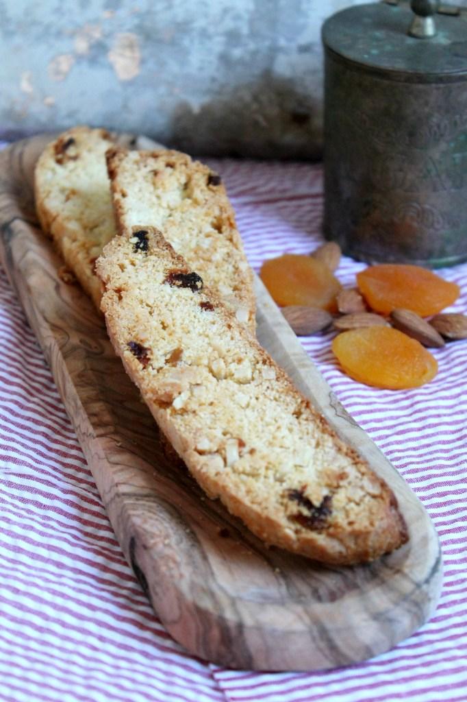 Almond Apricot Biscotti